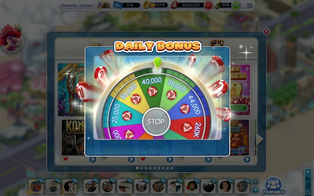 MyVegas on Facebook daily wheel spin