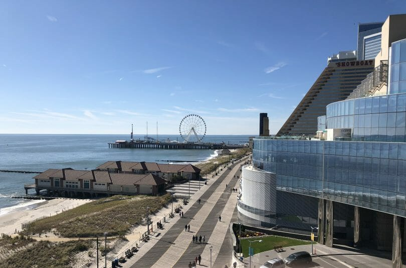Atlantic City boardwalk from Ocean Resort Casino