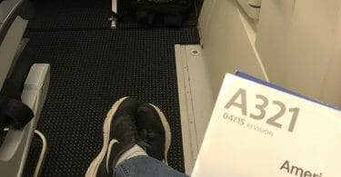 American Airlines Airbus A321 seat 23F