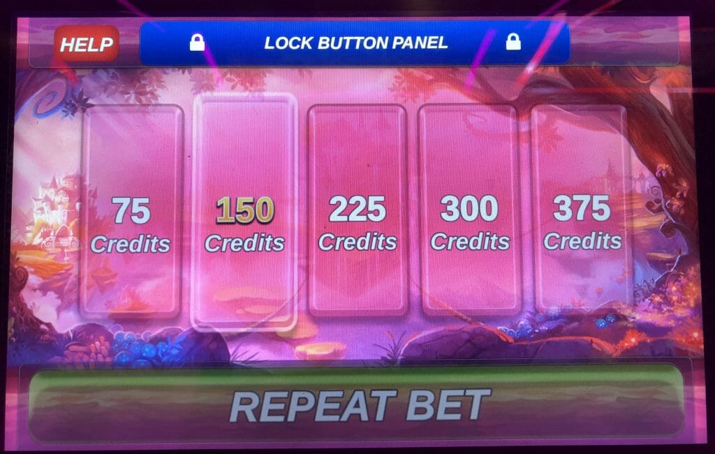 It's Magic: Ruby by IGT bet panel