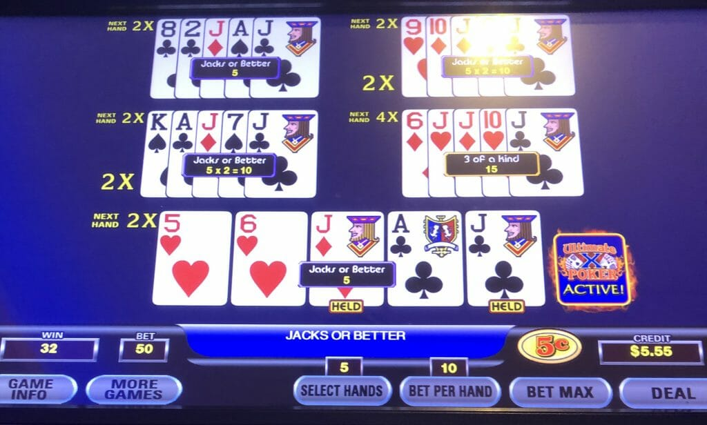 Ultimate X Poker by IGT hand three